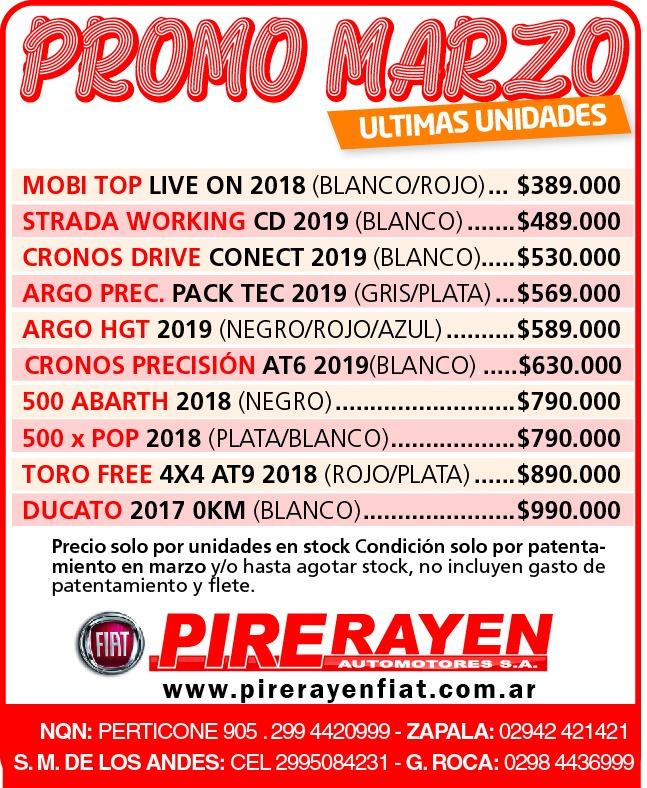 Liquidación Pire Rayen Marzo 2019